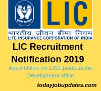 LIC Recruitment Notification 2019
