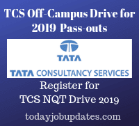 TCS Off-Campus Drive for 2019 Batch