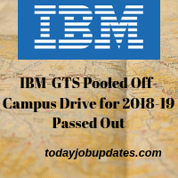 IBM-GTS Pooled Off-Campus Drive for 2018-19 Passed Out