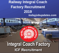 Railway Integral Coach Factory Recruitment 2019