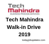 Tech Mahindra Walk-in Drive 2019