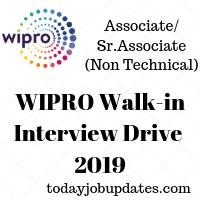 WIPRO Walk-in Interview Drive 2019