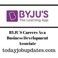 BYJU'S Careers As a Business Development Associate