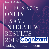 Check CTS Online Exam, Interview Results 2019