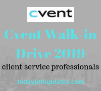 Cvent Walk-in Drive 2019