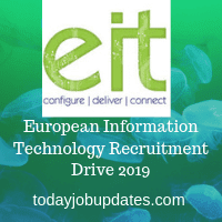 European Information Technology Recruitment Drive 2019