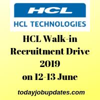 HCL Walk-in Recruitment Drive