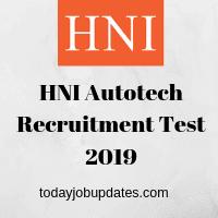 HNI Autotech Recruitment Test 2019