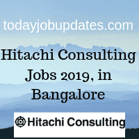 Hitachi Consulting Jobs 2019, in Bangalore