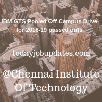 IBM-GTS Pooled Off-Campus Drive for 2018-19 passed outs