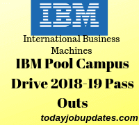 IBM Pool Campus Drive 2018-19 Pass Outs