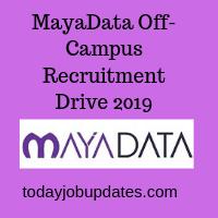 MayaData Off-Campus Recruitment Drive 2019