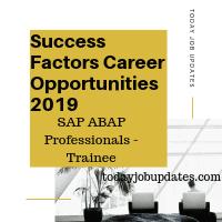 Success Factors Career Opportunities 2019