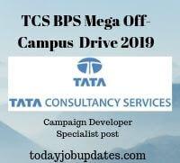 TCS BPS Mega Off-Campus  Drive 2019