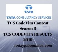 TCS CodeVita Results 2019