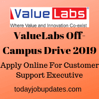 ValueLabs Off-Campus Drive 2019