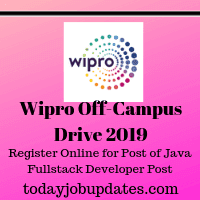 Wipro Off-Campus Drive