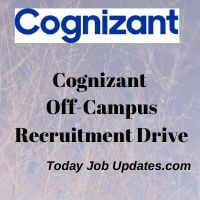 Cognizant Off-Campus Drive