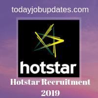 Hotstar Recruitment 2019