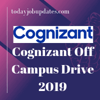 Cognizant Off-Campus Drive 2019