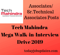 Tech Mahindra Mega Walk-in Interview Drive 2019