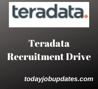 Teradata recruitment Drive