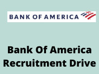 Bank of america Recruitment Drive