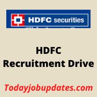 HDFC bank Recruitment Drive