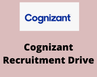 cognizant Recruitment Drive