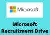 microsoft Recruitment Drive
