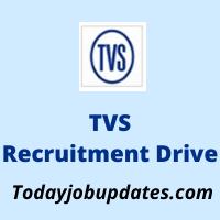 tvs Recruitment Drive