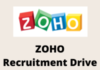 zoho Recruitment Drive