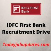 IDFC Recruitment Drive