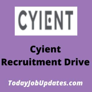 cyient Recruitment Drive