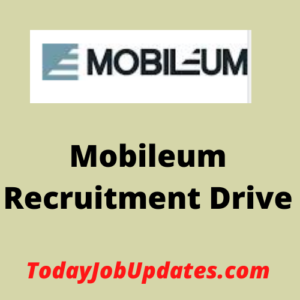 mobileum Recruitment Drive